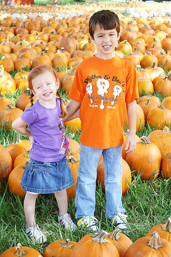 Audrey and Landon pumpkin patch 2