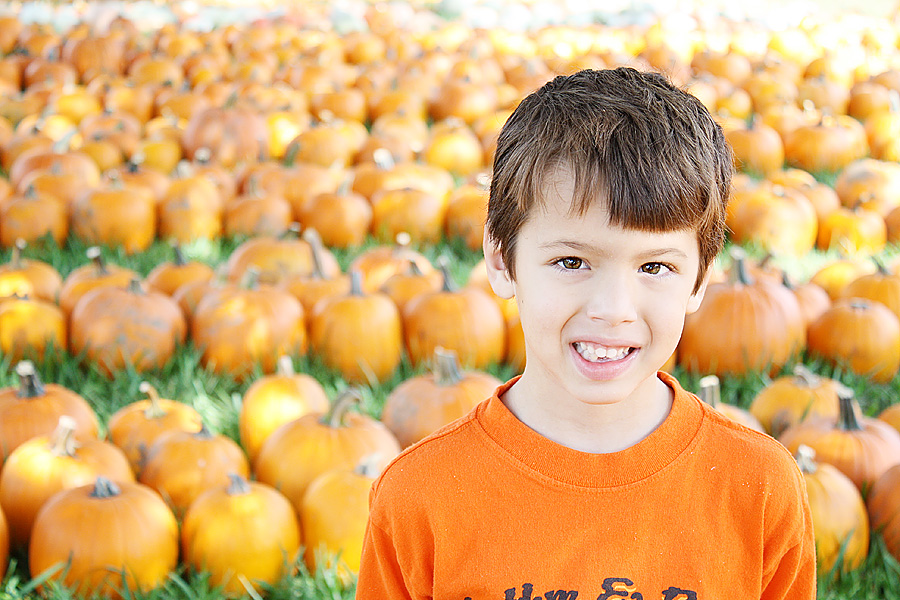 Landon pumpkin patch 1